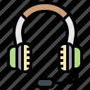 audio, headset, microphone, operator, sound icon