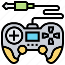 button, connection, controller, joystick, wired icon