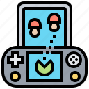 button, device, game, leisure, portable icon