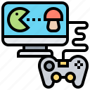 computer, gaming, instruction, joystick, walkthrough icon