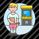 2, arcade, fashioned, female, game, gamer, old, retro, video, vintage icon