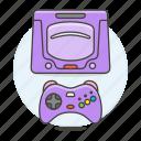 consoles, controller, game, purple, retro, saturn, sega, video, vintage icon