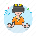 1, controller, enviroment, game, headset, male, playing, reality, video, virtual, vr icon