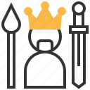 game, king, success, winner icon