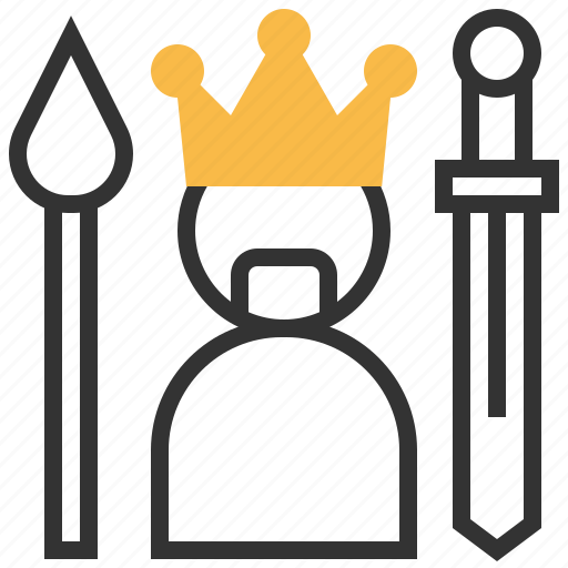 game, king, success, winner icon