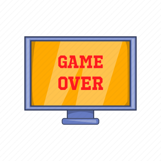 cartoon, digital, game, gaming, over, screen, sign icon