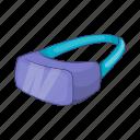 cartoon, future, glasses, headset, video, virtual, vr icon