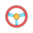 computer, console, game, object, steering, technology, wheel icon