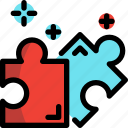 game, jigsaw, puzzle, video icon