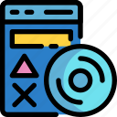 disc, game, software, video icon