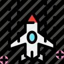 game, shooting, spaceship, video icon