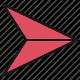 arrow, direction, next, point icon
