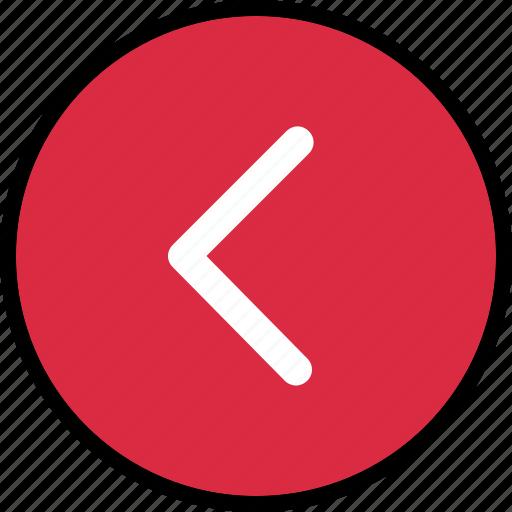 arrow, back, pointer icon