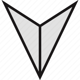 arrow, direction, down, point icon