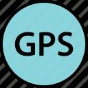 google, gps, text icon