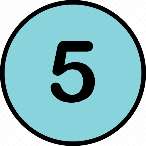 five, list, number, top icon