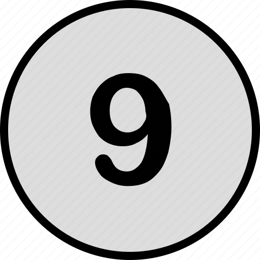 nine, number, top, track icon