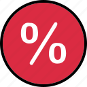percentage, rate, revenue icon