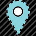 custom, google, pin icon