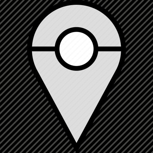 custom, location, pin, pins icon