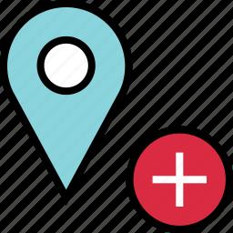 add, google, locate, plus icon