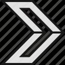 arrow, next, pointer icon