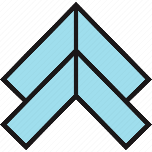 arrow, pointing, up icon