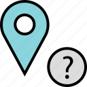 google, locate, question icon