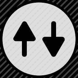 activity, arrows, up icon