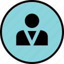 boss, person, profile, user icon