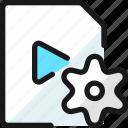 video, file, settings