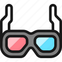 movies, 3d, glasses