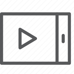controls, landscape, media, mobile, play, player, video icon