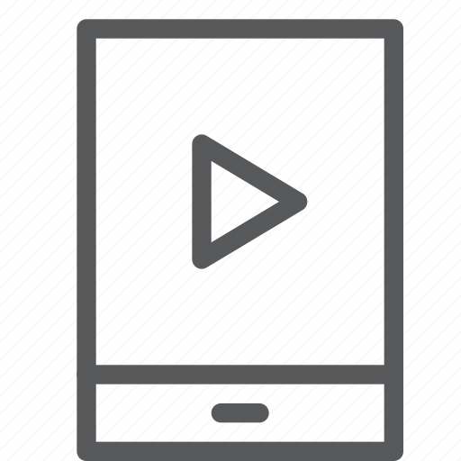 control, film, mobile, movie, player, portrait, video, watch icon