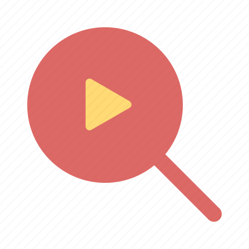 audio, film, find, interface, player, search, video icon