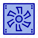 compter, cooler, device, fan icon