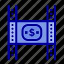 budget, costs, film, money, movie icon