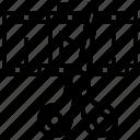 clip, film, footage, montage, scissor icon