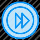forward, media, multimedia, player icon