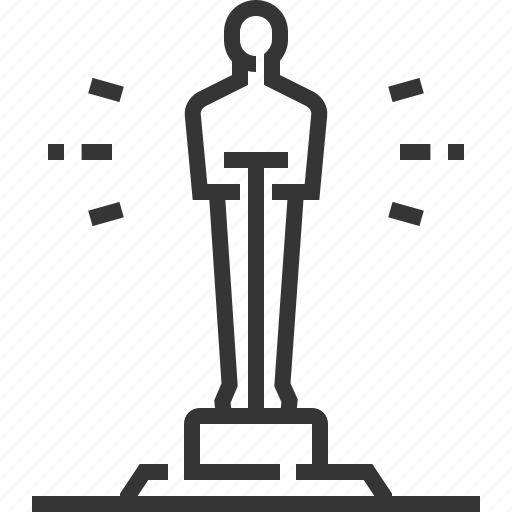 cinema, festival, movie, statue, the award, video, watch icon