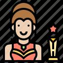 actress, avatar, cinema, star, woman icon