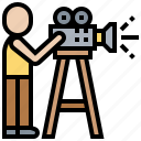 camera, operator, producer, production, video icon