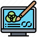 color, computer, correction, monitor, technology icon