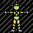 capture, cyborg, motion, system, virtual icon