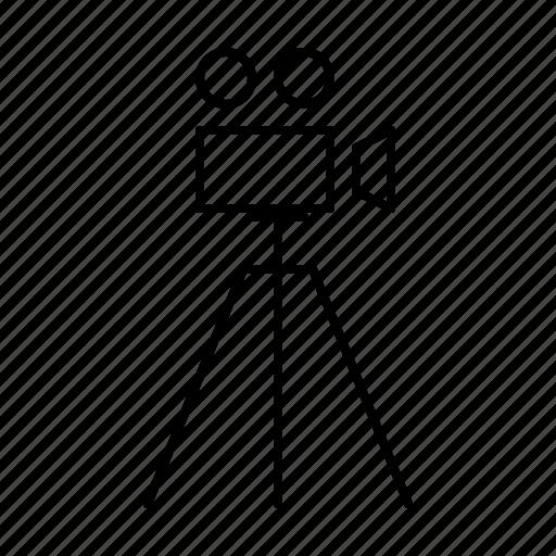 camera, cinema, film, hollywood, production, video icon