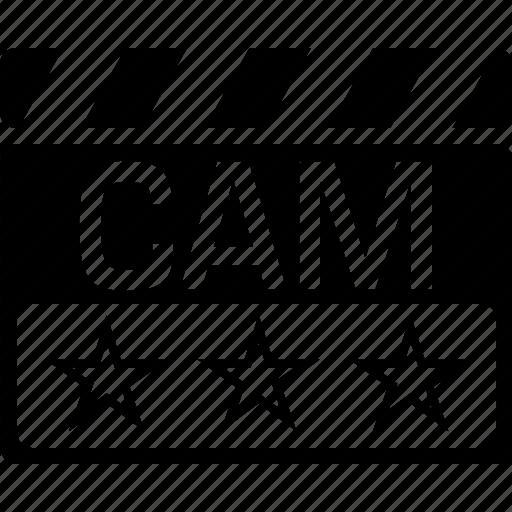 cam, camrip, clapper, video format icon