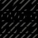 clapper, dvd9, video format icon