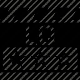 clapper, low quality, lq, video format icon