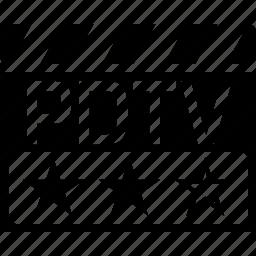 clapper, pdtv, video format icon