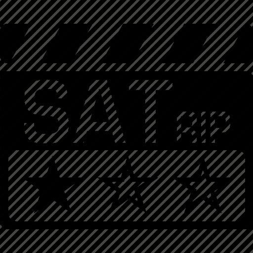 clapper, sat, satrip, video format icon